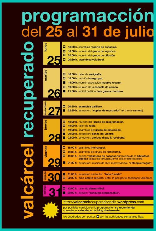 Programación de Valcárcel (25-31 Julio)